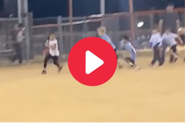6-Year-Old Girl Outruns All the Boys for Flag Football TD