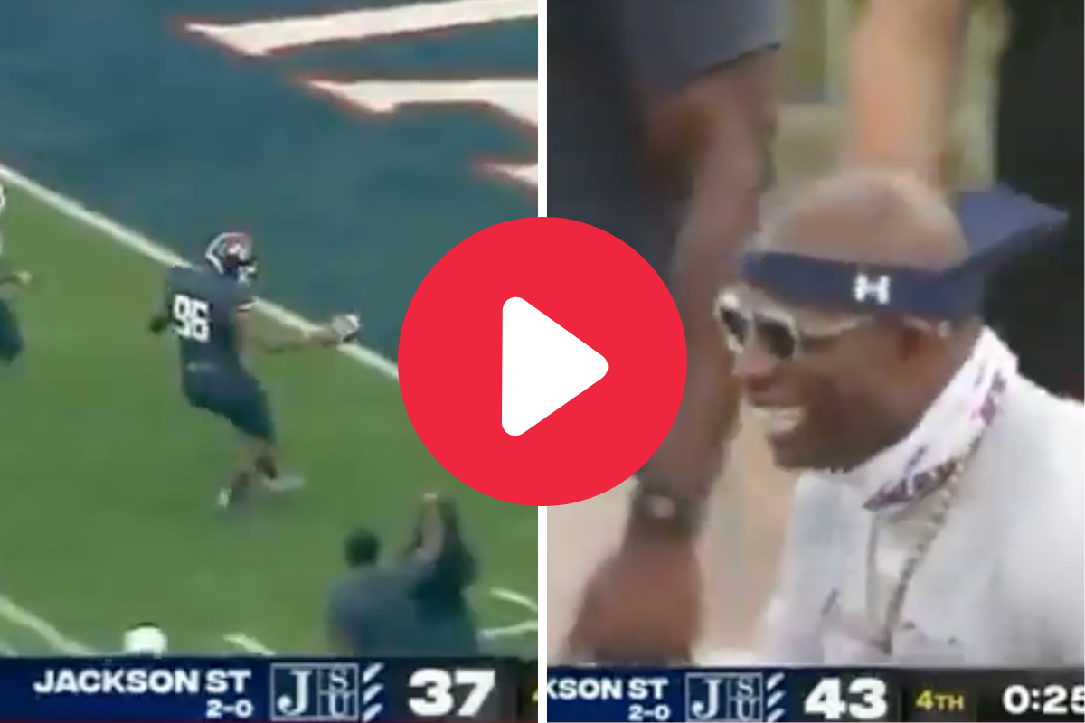 "Lineman Hits ""Prime Time"" TD Dance After Deion Sanders Asked for It"