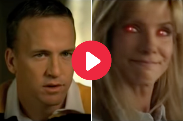 "Peyton Manning Spoofed ""The Blind Side"" & Turned It Into a Horror Movie"