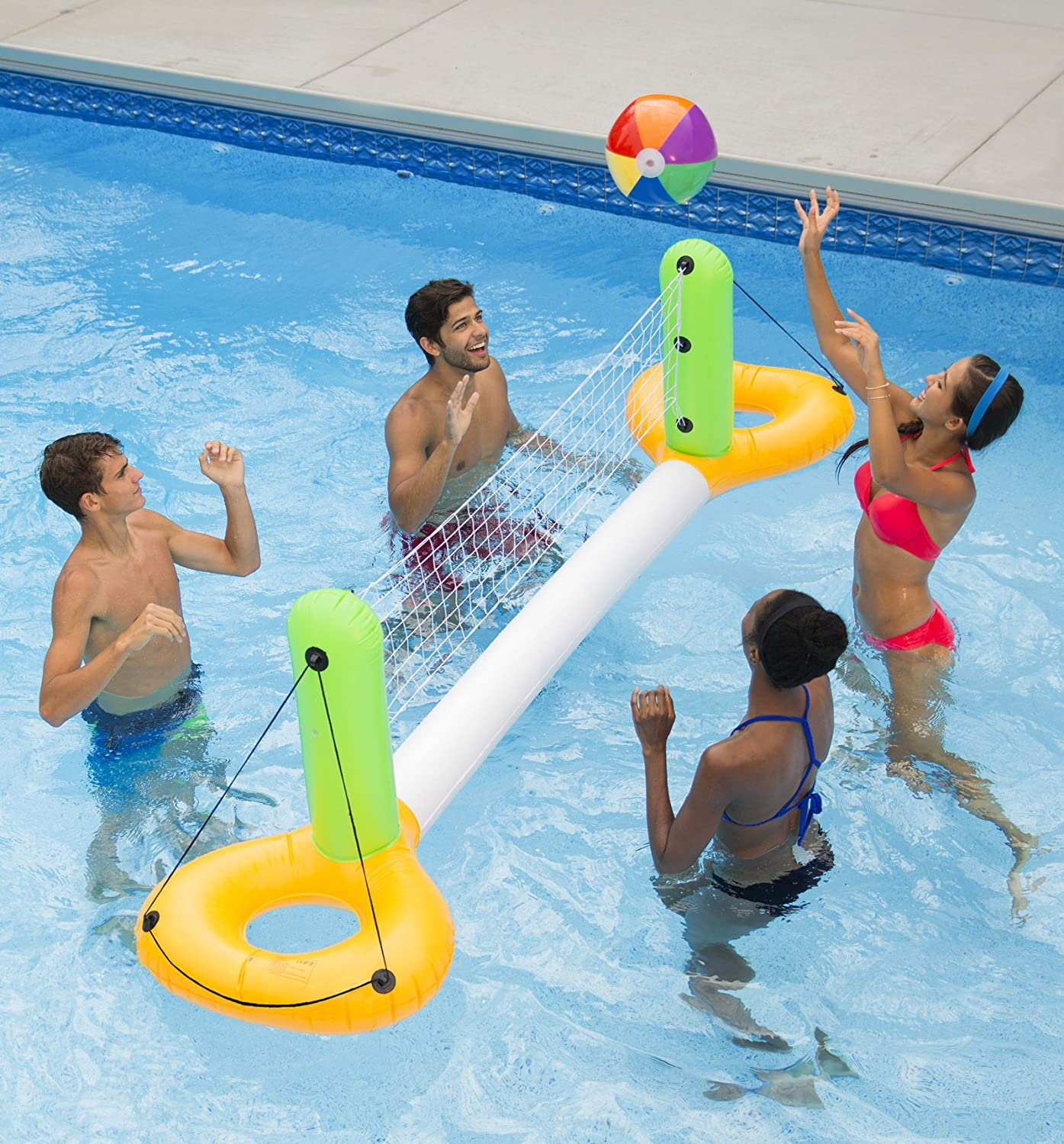 SUN Searcher Floating Inflatable Pool Volleyball Game Set for Swimming Pool