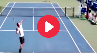 The World's Fastest Tennis Serve Zoomed Past His Opponent