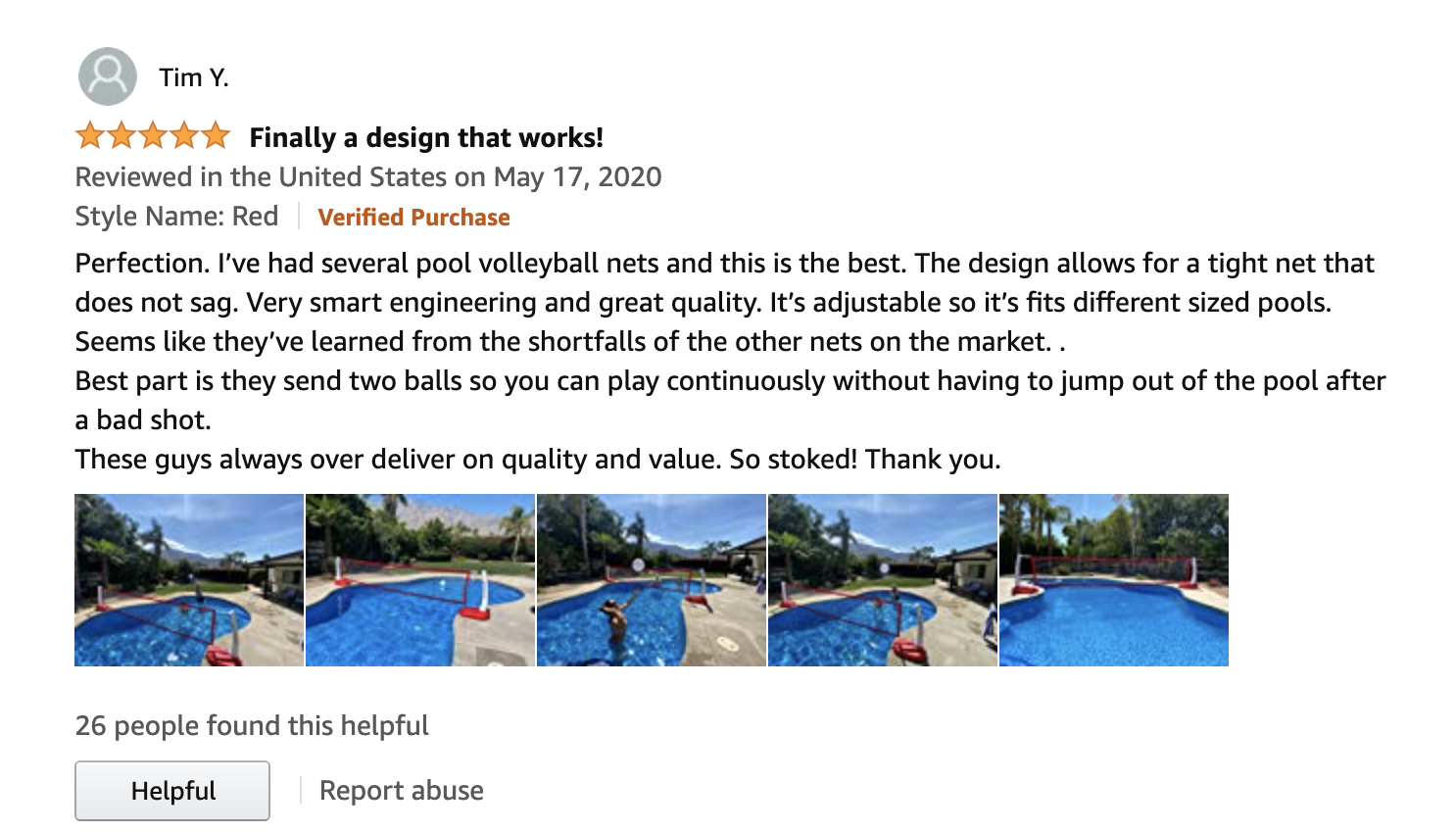review pool volleyball net