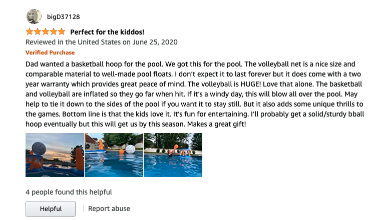 review pool volleyball net 3