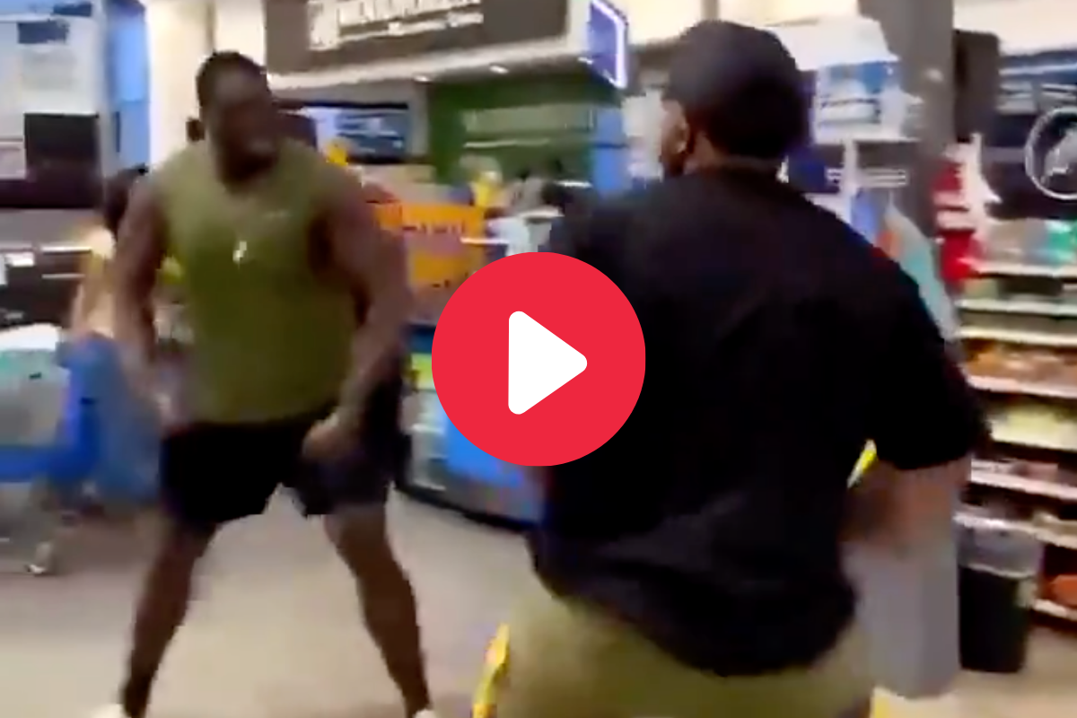Internet Mistakes Former NFL Player as Viral Walmart Fighter