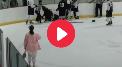 Hockey Mom Breaks Up Brawl After Refs Wouldn't