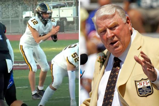 John Madden's Grandson Getting College Football Looks