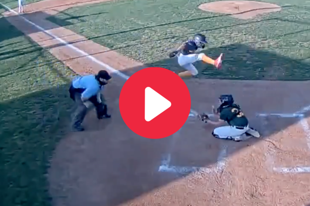 Little Leaguer's Leap Over Catcher Robbed By Umpire's Call