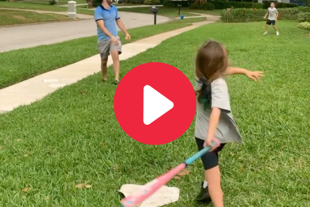 6-Year-Old Girl's Baseball Swing is Taking The Internet By Storm