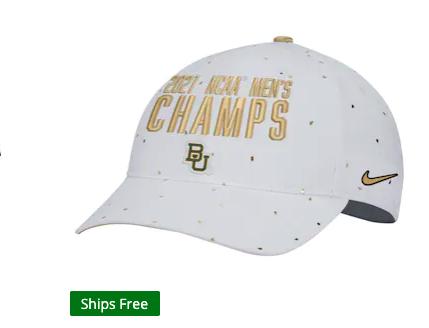Baylor Bears Nike 2021 NCAA Men's Basketball National Champions Locker Room Legacy 91 Performance Adjustable Hat - White