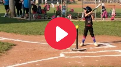 5-Year-Old Speedy Softball Star Looks Like a Future Olympian