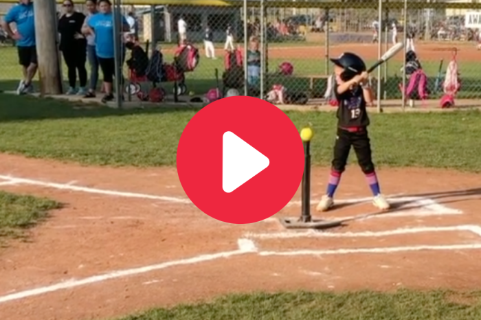 5-Year-Old Speedy Softball Star Looks Like a Future Olympian