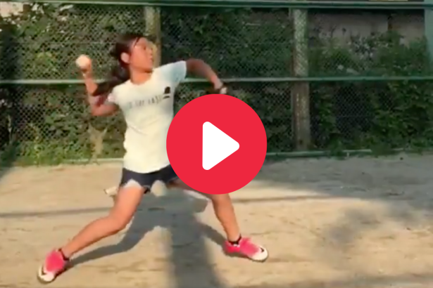 9-Year-Old Girl's Flawless Pitching Motion Made Her a Viral Star
