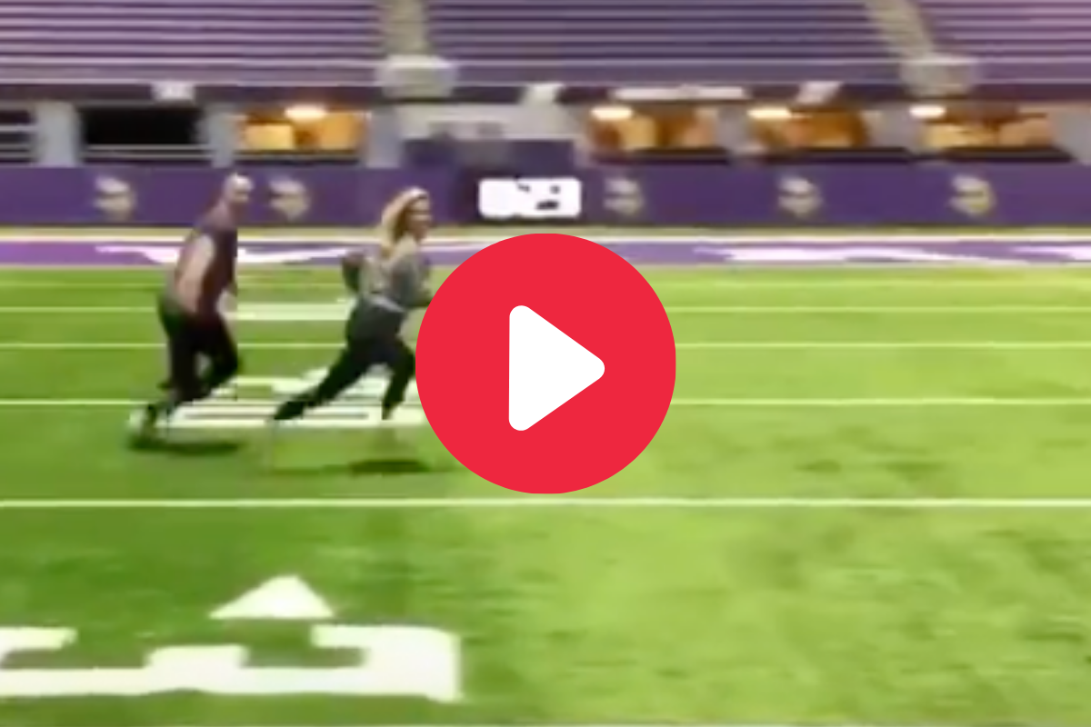Softball Player Embarrasses Man With Ankle-Breaking Football Route