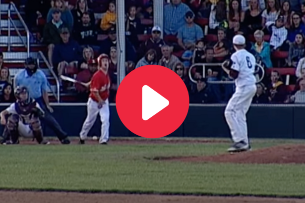 HS Baseball Player Fouls Ball Off Crotch, Gives Hilarious Reaction
