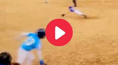 8-Year-Old Pitcher's Diving Stop & Throw is Gold Glove Worthy