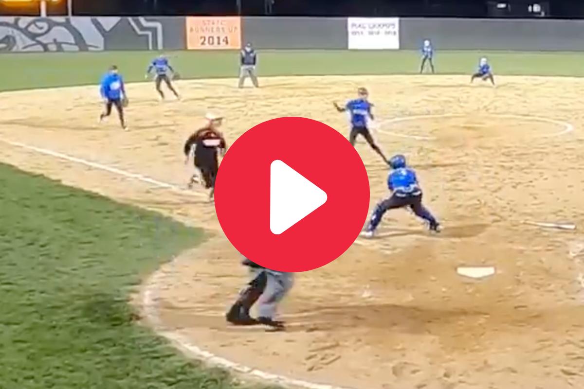 HS Softball Team Pulls Off Game-Saving Triple Play