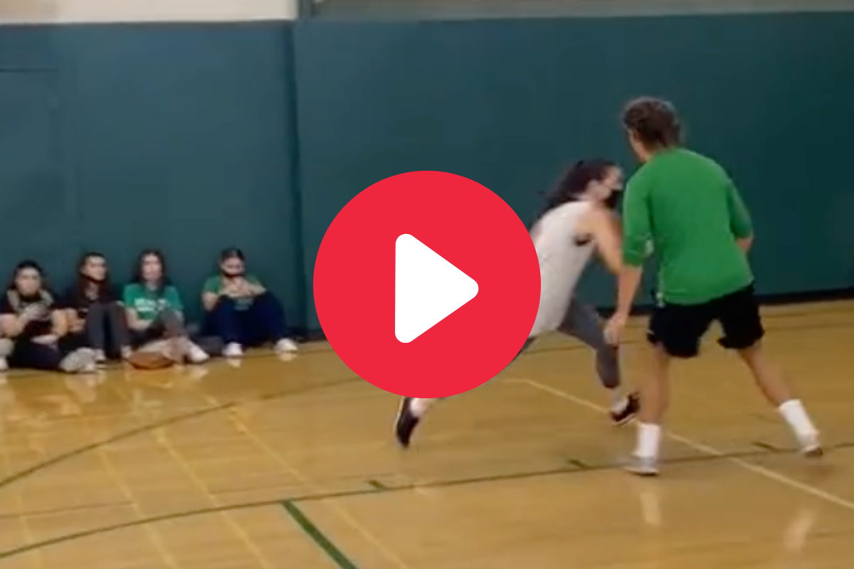 Female Teacher Embarrasses Student With Awesome Reverse Layup
