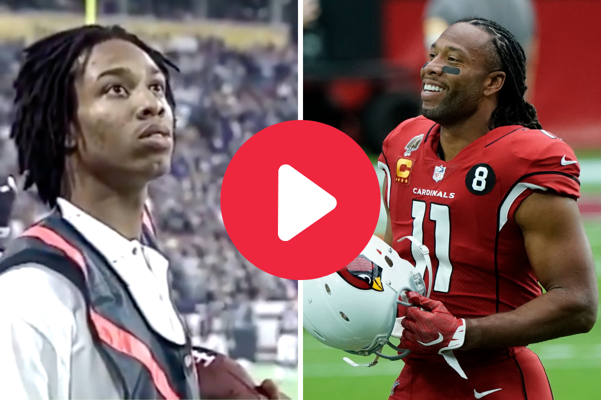 Larry Fitzgerald Used to Be the Vikings' Ball Boy