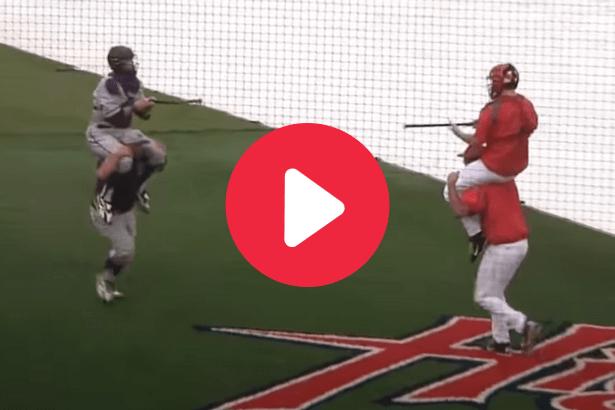 College Baseball Teams Turn Rain Delay Into Jousting Match
