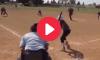 Softball No Look Bunt