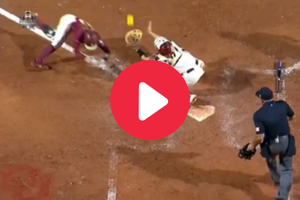 """Controversial """"Obstruction"""" Call in WCWS Divides Softball World"""