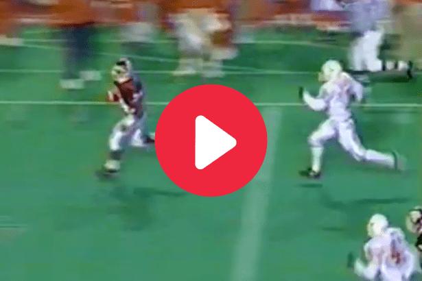 "Leeland McElroy's 100-Yard Kick Return vs. Texas Defined ""Horns Down"""