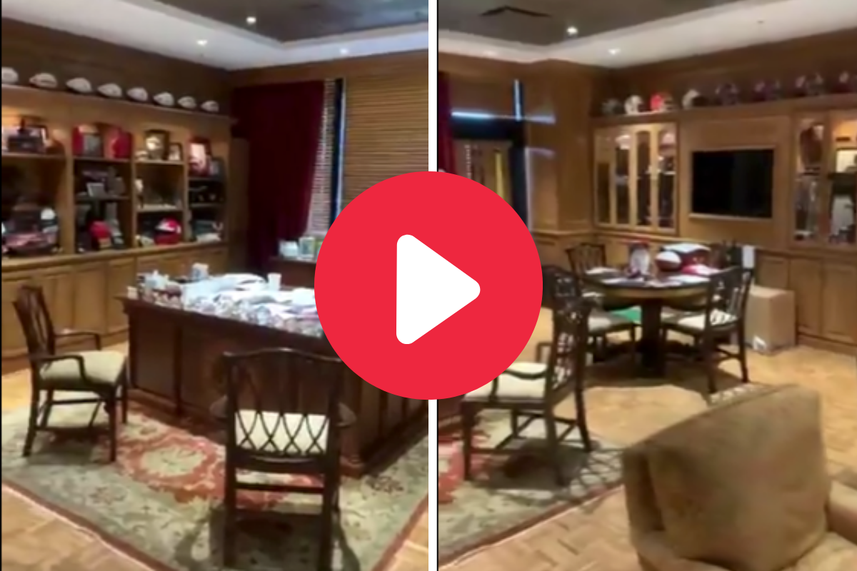 Nick Saban's Office Shows the King of College Football Lives Large
