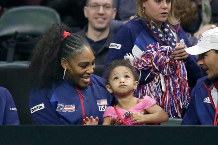 Serena Williams' Daughter Already Looks Like a Future Tennis Star
