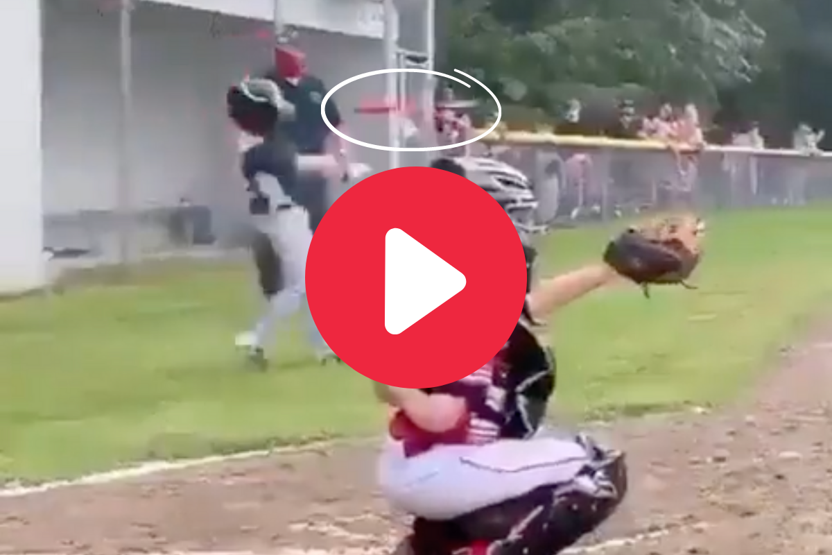 Little Leaguer Nails Coach's Head With Bat During Practice Swing
