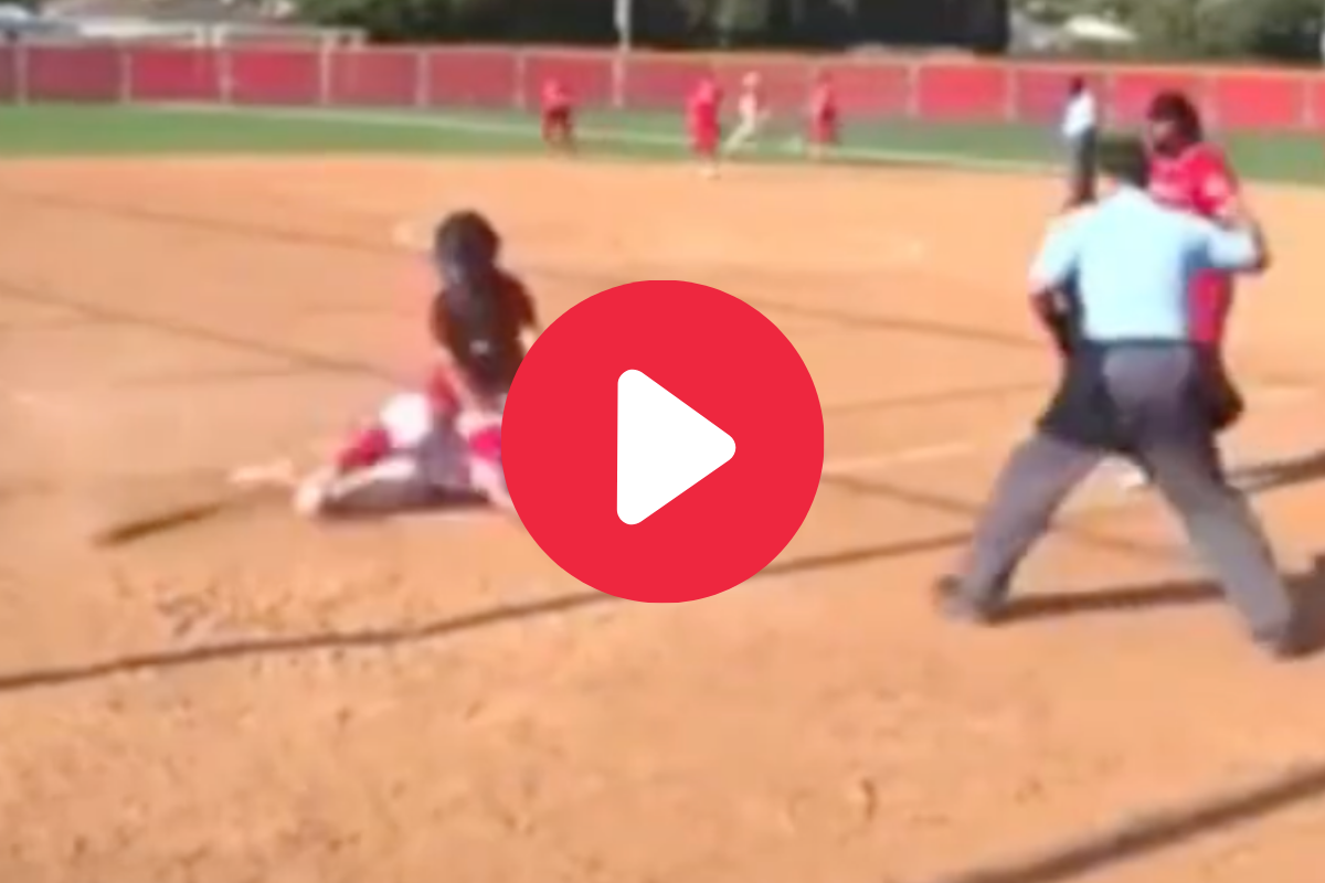 Softball Catcher Ejected For Shoving Runner, But Was it the Right Call?