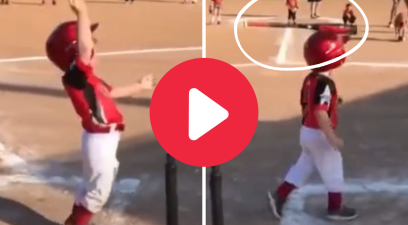 4-Year-Old's Bat Flip Hilariously Hits His Own Head