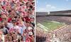 Alabama fans rushing the field 1