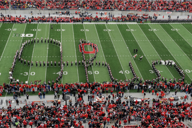 """Ohio State's """"Dotting the I"""": The Iconic 85-Year-Old Band Tradition"""