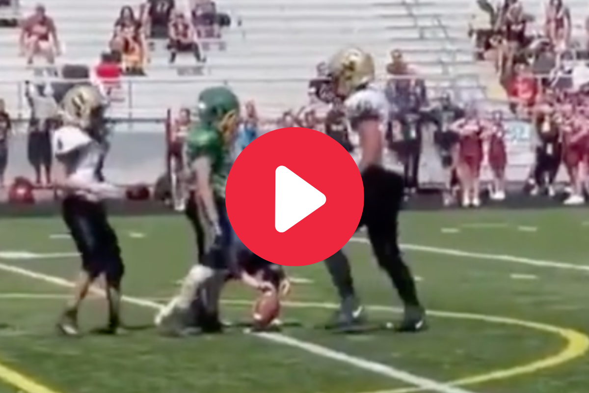 Hilarious Pee Wee Field Goal Attempt Results in Awkward Standoff