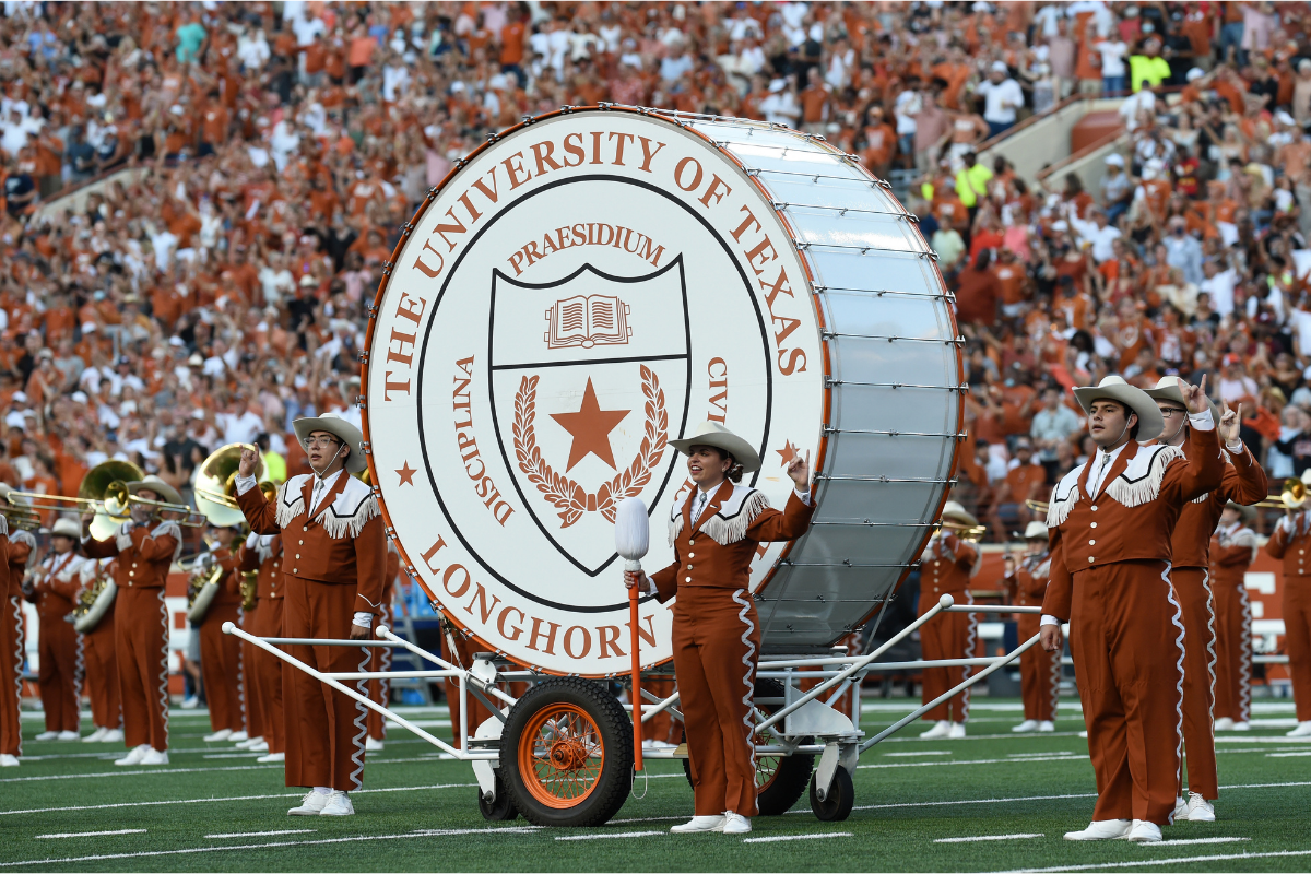 The Texas Longhorn Band Has a Drum With a Radioactive Past